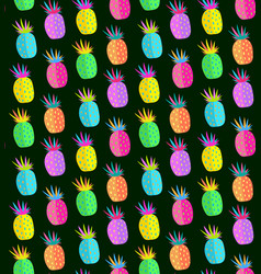 crazy pineapple seamless pattern vector image