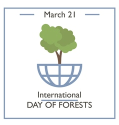 Day of Forests vector image