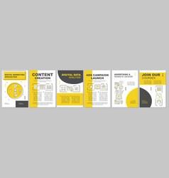 Digital marketing specialities brochure template vector