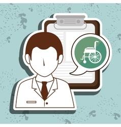 Doctor medical icon vector