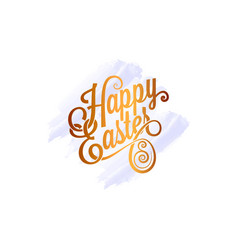 easter egg watercolor card on white background vector image