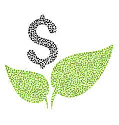 Eco startup mosaic of dots vector