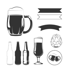 Elements for vintage beer labels vector