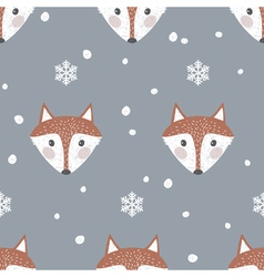 Fox background vector