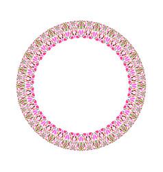 Geometrical floral circle - circular element vector