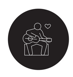 guitar player black concept icon guitar vector image