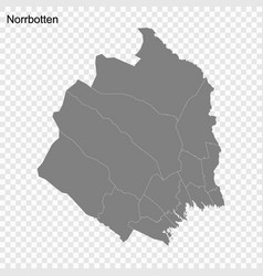 High quality map is a county sweden vector