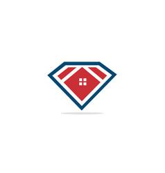 home realty diamond logo vector image