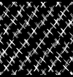 ink hand drawn abstract cross seamless pattern vector image