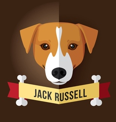 jack russell vector image