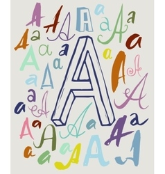 Letter A in different styles vector