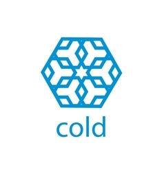 Logo cold vector