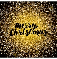Merry Christmas Gold Design vector image