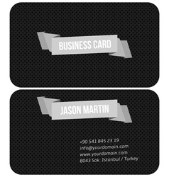 Metallic business card vector