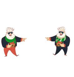 modern santa set vector image