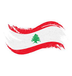 National flag of lebanon designed using brush vector
