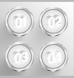 Numbered circle templates vector