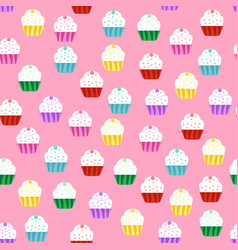 Pattern with cakes vector
