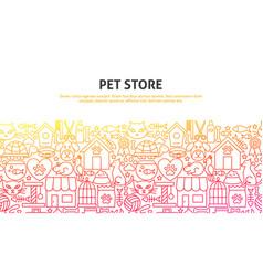 pet store concept vector image