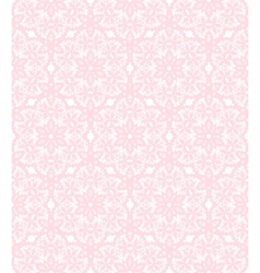 Pink lace pattern vector image vector image