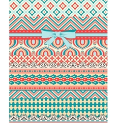 Set patterns and stripes for scrapbooking all vector