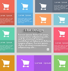 Shopping basket icon sign Set of multicolored vector
