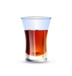 Shot of whiskey isolated on white background vector