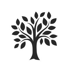 simple black tree decor images vector image