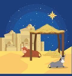 traditional christian christmas vector image