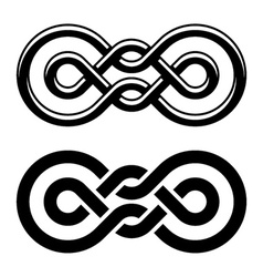 Unity knot black white symbol vector