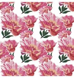 Watercolor spring flowers peonies vector