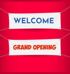 Welcome grand opening banner presidential vector