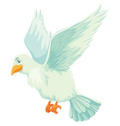 White bird spreading its wings vector image