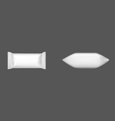 white candy wrappers blank foil or paper packages vector image
