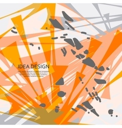 Abstract explosion Dirty background for vector image vector image