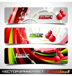 banner set on a christmas theme vector image