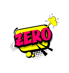 colored comic text numbers zero vector image vector image