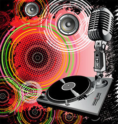 dj background vector image vector image