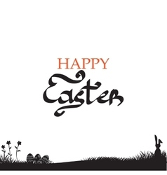 Easter background with easter bunny vector image vector image