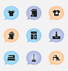 set of 9 editable cleanup icons includes symbols vector image