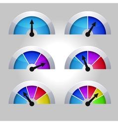 Set of indicators diagram vector image