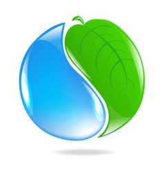 Eco Simbol vector image vector image