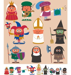 Medieval People 2 vector image