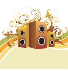 musical graphic background vector image vector image