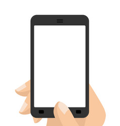 photograph on smartphone hand holding screen vector image vector image