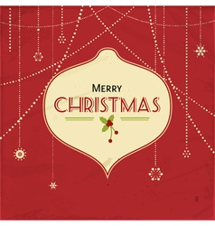 red vintage christmas background vector image vector image