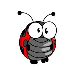Smiling happy little ladybug or ladybird vector image vector image
