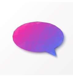 Abstract design - Geometric speech bubble vector image vector image