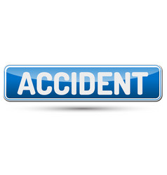 accident - abstract beautiful button with text vector image vector image