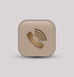 phone call beige icon vector image